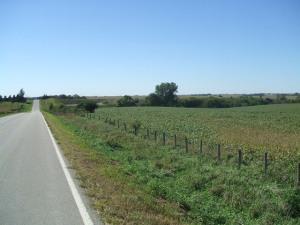 Fields next to quarry